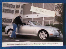 "Original Press Promo Photo - 7""x5"" - Lexus - 2004 - Thieves"