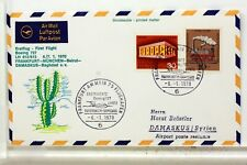 LUFTHANSA FIRST FLIGHT 1° VOL 1970 FRANCFORT BEYROUTH  DAMAS BAGHDAD  COVER F29