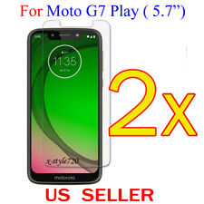 """2x Clear LCD Screen Protector Guard Cover Film For Motorola Moto G7 Play (5.7"""")"""