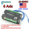 US】6 Axis NVCM USB Mach3 Stepper Motor Motion Control Card Breakout board 125KHz