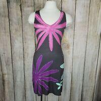 Nally & Millie Reversible V Neck sleeveless Dress Women's Size S