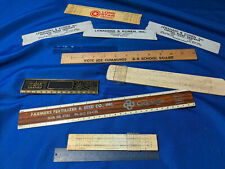 Huge Advertising Small Ruler LOT Cement Indiana Lone Star Farm Seed Bank VTG