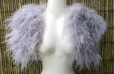 Silver Grey Ostrich Feather and Marabou Feather Bolero/Jacket