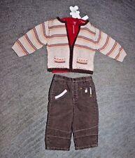 Petit Lem Baby Boys 3 Piece Outfit (Sweater, Shirt, Pants)- Size 12 Months - NWT