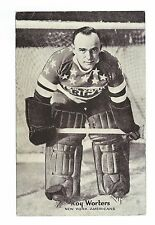 Roy Worters Original 1936 Triumph Postcard New York American Hall of Fame Goalie