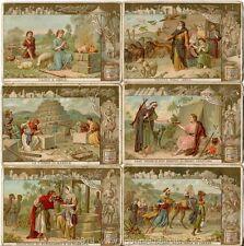 Chromo Liebig Sang. 496 ITA Storia Sacra V ANNO 1896