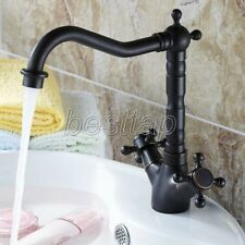 Oil Rubbed Brass Dual Handle Mixer Tap Kitchen Bathroom Sink Basin Faucet ssf076