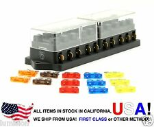 Lumision 10 Port way Automotive ATO ATC APR Fuse Block Terminal w/ 13 Fuses Set