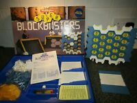 SUPER BLOCKBUSTERS WITH GOLD RUN BOARD GAME by WADDINGTONS 1991, COMPLETE, VGC