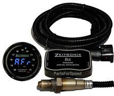 Zeitronix Zt-3 Wideband O2 Sensor System AFR & ZR-1 Black Gauge Blue LED Datalog
