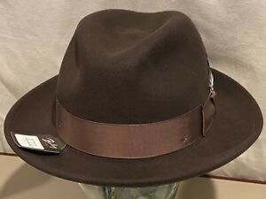 $90 Bailey Of Hollywood  BLIXEN  LiteFelt Wool Hat Fedora XXL RARE Color  UNIQUE