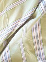Pottery Barn Morrison Full/Queen Duvet Cover Cotton Striped Green Blue White