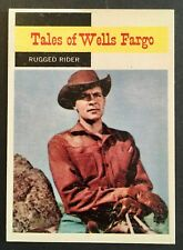 Vintage 1958 Topps TV WESTERNS card #60 RUGGED RIDER (2) combined ship