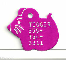 Rat Mouse Kitten Kitty Cat Pet Id Tag colored Aluminum or Brass