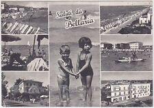 RIMINI BELLARIA IGEA MARINA 38 SALUTI da... BAMBINI Cartolina viaggiata 1950