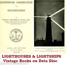 Lighthouses Lightships Collection Vintage Books PDF files on Data Disc Stevenson