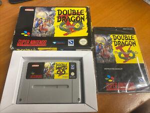 Double Dragon V 5 the Shadow Falls Snes Super Nintendo Boxed PAL CIB