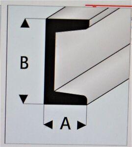"MAQUETT 412-55/3 White Styrene C channel 4.0mm x 2.0mm/0.156""x 0.080"" x 330mm X5"