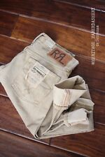 NWT Women's RRL Selvedge Denim Icon Core Ranch Fit Jeans Sz. 26 MSRP $300 Khaki