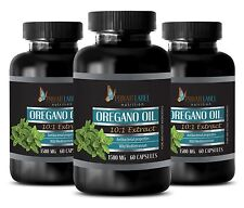 Oregano Oil Extract 1500mg Supports Digestive, Immune System 3 Bot 180 Capsules