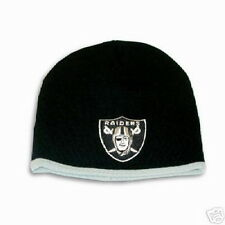 OAKLAND RAIDERS NFL NEW BORN/BABY CLASSIC CUFFLESS BLACK KNIT BEANIE HAT SKI CAP