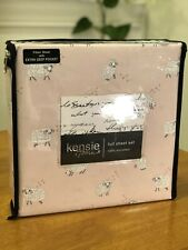 Kensie Home FULL Pc Sheet Set Bedding Microfiber New Pink Sheep/Lambs