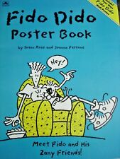 "FIDO DIDO Poster Book Fold Out Wall Poster 22"" x 34"" Vintage Cartoon 7 UP Mascot"