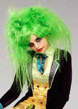 Womens The Joker Style Messy Green Wig