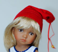 Boneka Red Jelly Bag Cap for dolls with a head circumference of ca. 15cm / 6""