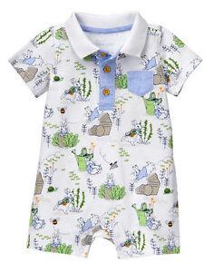 NWT Gymboree Peter Rabbit Landscape Romper 3 6 12 18 mo Baby Boy