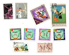 Lot de 10 timbres