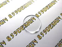 """2.5"""" Round Acrylic Blanks Clear Circle Keychain for Vinyl Pack 12-25-50-75-100pc"""