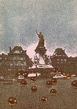 "Unique Pol BURY Original 1971 Color Lithograph ""Statue Of Liberty"" FRAMED COA"