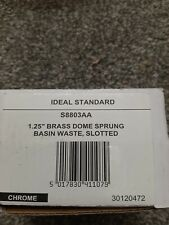 "Ideal Standard S8803aa 1. 25"" Brass Dome Spring Basin Waste Slotted"