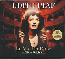 Edith Piaf - La Vie En Rose - 44 Titres Originaux (2CD 2015) NEW/SEALED
