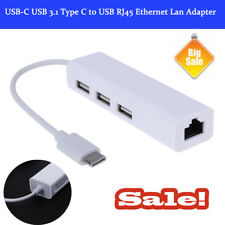 USB-C USB 3.1 Type C to USB RJ45 Ethernet Lan Adapter Hub Cable For Macbook
