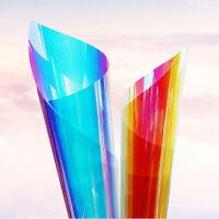 Rainbow Discolor Iridescent Window Home House Decoration Privacy Solar Tint Film