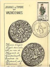 Jounée du Timbre - Carte locale Valenciennes 1961