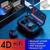 TWS Wireless Bluetooth Touch Waterproof Earphone Headphone Earbud iPhone Samsung