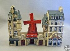 NEW J CARLTON BY GAULT FRENCH THREE MINIATURE PARIS BUILDING MOULIN ROUGE FACADE