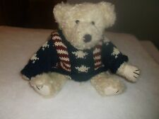 Boyd'S Bear Ethan Red White & Blue Sweater 1999 Investment Collecibles