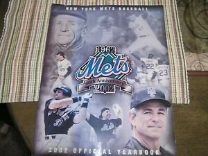 2002 New York Mets Official Yearbook  40th Anniversary 1962-2002