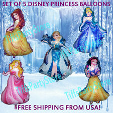 5 Elsa Snow White Cinderella Belle Aurora Disney Princess Birthday Party Balloon