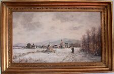 Ölbild Gemälde sign. Krippendorf winterliches Landschaftsbild gerahmt 50/60er J.
