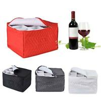 Stemware Storage Chest For 12 Crystal Wine Glasses Kitchen Zipper Case Container