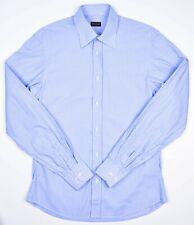 de0758d95589 Valentino Roma Mens Slim Blue Striped Long Sleeve Cotton Dress Shirt 15.5  34/35
