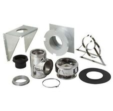 NEW SuperVent 11 Piece Chimney Pipe Accessory Kit for Wall Support - JSC6WSK