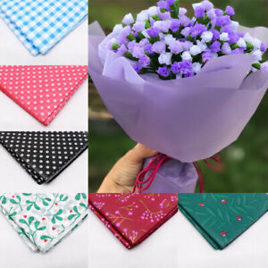 10 Sheets Florist Flower Wrapping Paper Bouquet Film Waterproof Packaging Crafts