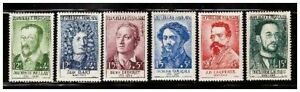 s23348) FRANCE 1958 MNH** Nuovi** Famous persons 6v Y&T 1166/71