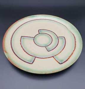 Art Deco Keramik Teller Luise Harkort Velten-Vordamm ca. 30er Jahre Bauhaus